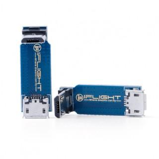 iFlight L-Type Adapter Plate Micro USB Male to Female - 3pcs