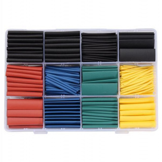 530pcs Heat Shrink Tubing Insulation Shrinkable Tube Assortment Electronic Polyolefin Ratio 2:1 Wrap Wire Cable Sleeve Tubes Kit