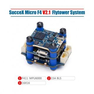 iFlight SucceX Micro F4 V2.1 15A 2-4S Flight Tower System (MPU6000,ESC Plugs)
