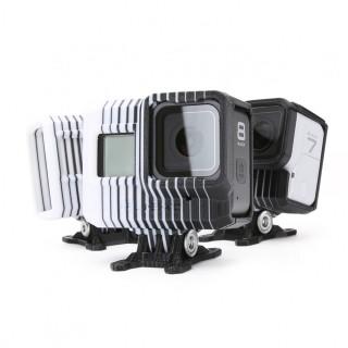 iFlight TPU Adjustable GoPro Mount (0~40°) w/ND8 Lens Filter (Black & White Camo)