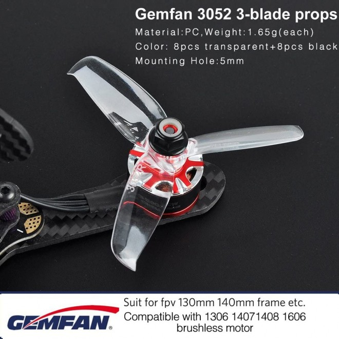 Gemfan 3052 3-Blade Propellers CW CCW (3sets/6pairs)