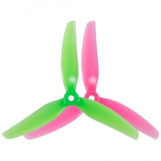 HQProp Ethix S3 Prop Watermelon 5x3.1x3 Tri-Blade Propeller 5 Inch Props (3sets/6pairs)
